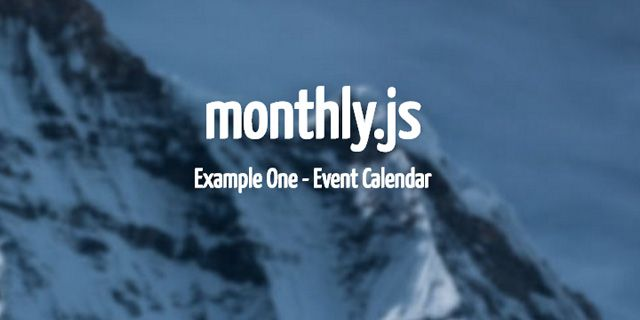 jQuery plugins: monthly
