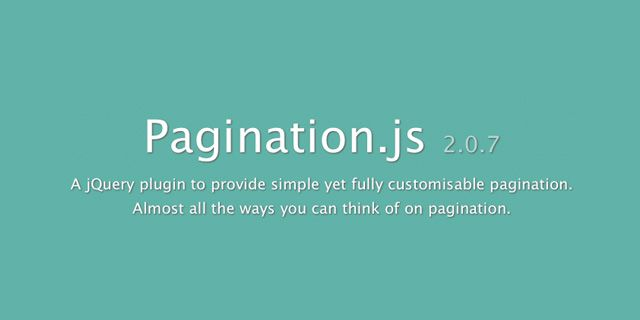 paginationjs plugin jquery